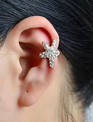 cheap -Ear Cuffs Alloy Rhinestone Simulated Diamond Star Silver Jewelry Wedding Party Daily Casual Sports 1pc