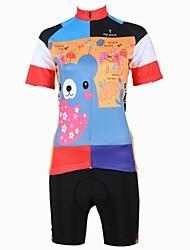 ILPALADINO Camisa com Shorts para Ciclismo Mulheres Manga Curta Moto Camisa/Roupas Para Esporte Shorts Conjuntos de Roupas Secagem Rápida