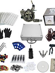 abordables -1 pistolet terminer sans kit encre de tatouage avec la machine de tatouage gravé et lion alimentation de modèle