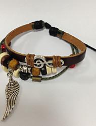 z&bracelet en cuir x® simplement bracelet multicouche avec l'aile