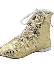 Jazz Kid/Woman Gold Spot Split Sole Patent Leather Dance Boots (More Colour)