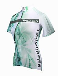 ILPALADINO Cykeltrøje Dame Kortærmet Cykel Trøje Toppe Cykeltøj Hurtigtørrende Ultraviolet Resistent Åndbart Blomster / botanik Cykling /