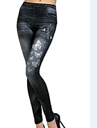 Women Denim Legging,Polyester Spandex