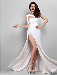 economico -A tubino cinghie Lungo Jersey Graduazione / Serata formale Vestito con Spacco sul davanti di TS Couture®