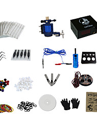 abordables -1 Gun Complete No Ink Tattoo Kit with Alloy Motor Tattoo Machine and Skull Pattern Power Supply