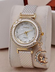 baratos -Mulheres Relógio de Pulso Venda imperdível PU Banda Amuleto / Brilhante / Fashion Preta / Azul / Marrom