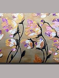 mão pintura a óleo pintado flor faca, com quadro esticado pronto para pendurar