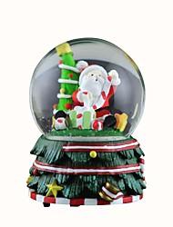 Недорогие -снег дед мороз хрустальный шар с 8 звука рождественской музыкальной шкатулки.