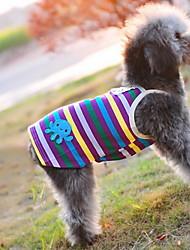 Cani T-shirt Viola Abbigliamento per cani Estate Righe Cosplay