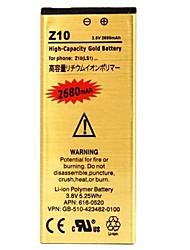 preiswerte -Hohe Kapazität 2680mah Wiedereinbau-Gold, Li-Polymer-Akku für Blackberry z10
