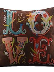 colorido lovecotton / fronha decorativo linho