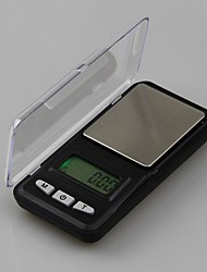 Rectangular Box Modeling Mini Electronic Scales 500g/0.01g,Plastic 12X6.2X2CM