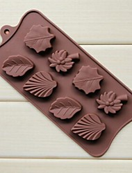 8 buraco de bordo coco folhas de palmeira moldes de chocolate forma de bolo de gelo geléia