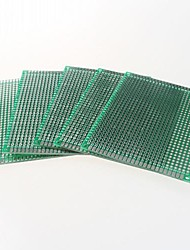 double face 2,54 mm pcb 5 x 7cm carte proto - vert (5pcs)