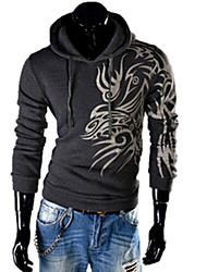 cheap -REVERIE UOMO Man's Floral Print Hoodie Silm dress Tops