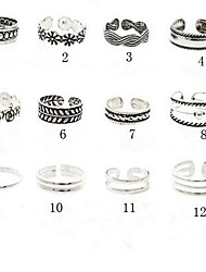cheap -Toe Ring / Cuff Ring Flower Unique Design, Vintage, European Women's 10 / 11 / 12 Body Jewelry For Party / Daily / Casual