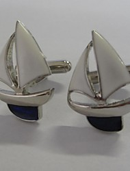 cheap -Men's Party/Evening Groom/Groomsman Sailing Boat Brass Cufflinks