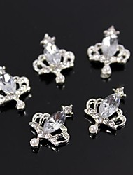 cheap -10pcs Charm Crown Large Crystal Rhinestone 3D Alloy Nail Art Decoration
