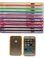 Недорогие -Для Кейс для iPhone 6 / Кейс для iPhone 6 Plus Защита от удара Кейс для Бампер Кейс для Один цвет Твердый PCiPhone 6s Plus/6 Plus /