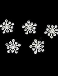 10pcs rhinestone snownflake accesorios diy decoración del arte del clavo
