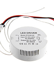 0.3A 25-30w dc 70-120v al driver costante di alimentazione CA 85-265V circolare esterna di corrente per plafoniera led