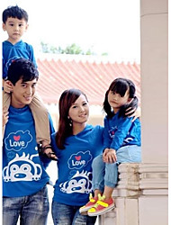 Family's Fashion Joker Leisure Parent Child Cute Monkey Long Sleeve T Shirt
