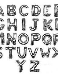 argento lettera palloncino