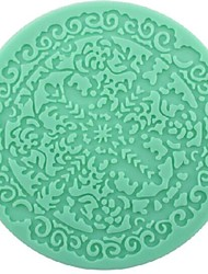 cheap -Lace Fondant Cake Chocolate Resin Clay Candy Silicone Mold, L12.6cm*W12.6cm*H0.4cm