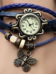 baratos -Mulheres Relógio de Pulso Venda imperdível PU Banda Borboleta / Boêmio / Fashion Preta / Azul / Laranja / Um ano / ETA 377A