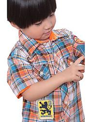 Ensfarvet Drengens Skjorte Sommer Polyester