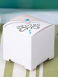 titular de papel de cartão cubico com favo-12 favores de casamento
