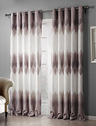 cheap -Rod Pocket Grommet Top Tab Top Double Pleat Two Panels Curtain Country, Print Bedroom Polyester Material Blackout Curtains Drapes Home