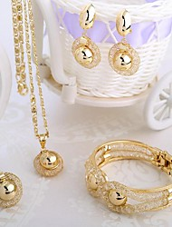 Jewelry Set Costume Jewelry Alloy Necklaces Earrings Rings Bracelets & Bangles For Wedding Party Daily Wedding Gifts