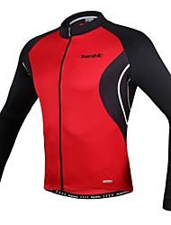 preiswerte -SANTIC Fahrradjacke Herrn Fahhrad Oberteile Frühling Polyester Fahrradbekleidung Anatomisches Design UV-resistant Hohe Atmungsaktivität