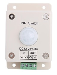 cheap -8A 1-Channel Human Body PIR Induction Switch for LED Strip Lamp  (DC 12V-24V)