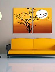 tela arte il bel tramonto decorazione set di 2