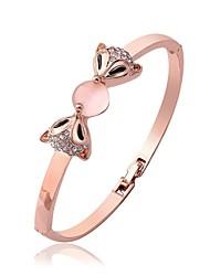 Femme Bracelets Rigides Imitation Opal Le style mignon Mode Plaqué Or Rose Renard Bijoux Pour Mariage Travail