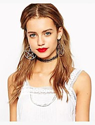 Hoop Earrings Alloy Fashion Star Jewelry Party Casual