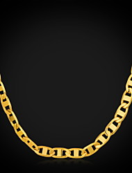 Недорогие -Бижутерия Ожерелья-цепочки Для вечеринок Медь / Позолота Мужчины Золотой Свадебные подарки