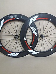 cheap -Aluminium Alloy Carbon Steel Clincher Wheelsets Road 700C 88 mm 20.5 mm