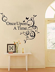JiuBai™ Once Upon A Time Quote Wall Sticker Wall Decal