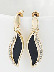 CS Korean Style Leaf Diamonade Elegant Earrings