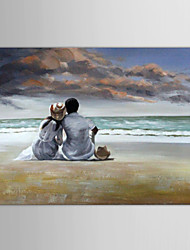 cheap -Hand-Painted People One Panel Canvas Oil Painting For Home Decoration
