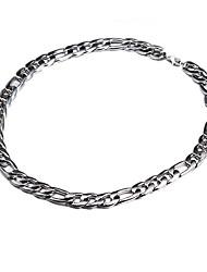 Недорогие -Фигаро Цепь Ожерелья-цепочки - Серебрянное покрытие Ожерелье Бижутерия Назначение Для вечеринок, Повседневные