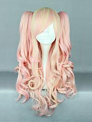 mcoser bambino rosa e trecce crema riccia parrucca lolita 70 centimetri dolce