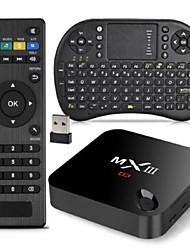abordables -mxiii Amlogic S802 XBMC completamente cargado cuadro de tv ram 2g 8g rom rii kit paquete teclado qwerty airmouse i8 2,4 g 5g dual wifi