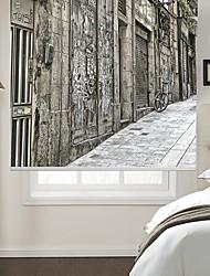 Недорогие -Роликовые шторы 100% полиэстер Экологичные Внутреннее крепление Живопись