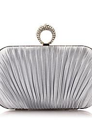 Damen Taschen Ganzjährig Polyester Abendtasche Perle Crystal / Strass für Hochzeit Veranstaltung / Fest Normal Schwarz Silber Beige