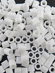 cheap -Approx 500PCS/Bag 5MM White Perler Beads Fuse Beads Hama Beads DIY Jigsaw EVA Material Safty for Kids