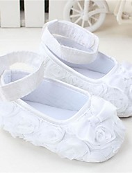 Girls' Baby Flats Crib Shoes Fall Winter Casual Crib Shoes Bowknot Flat Heel White Red Pink Purple Flat